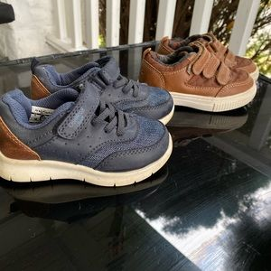 2 pairs of boys toddler sneakers